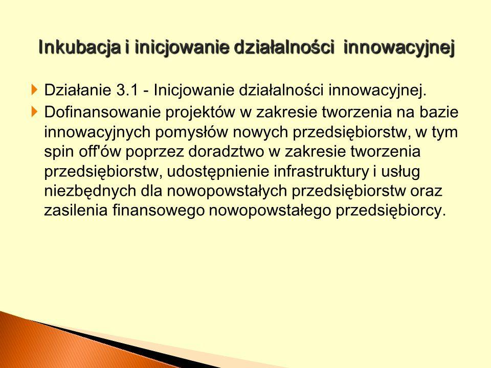 Inkubacja i inicjowanie działalności innowacyjnej
