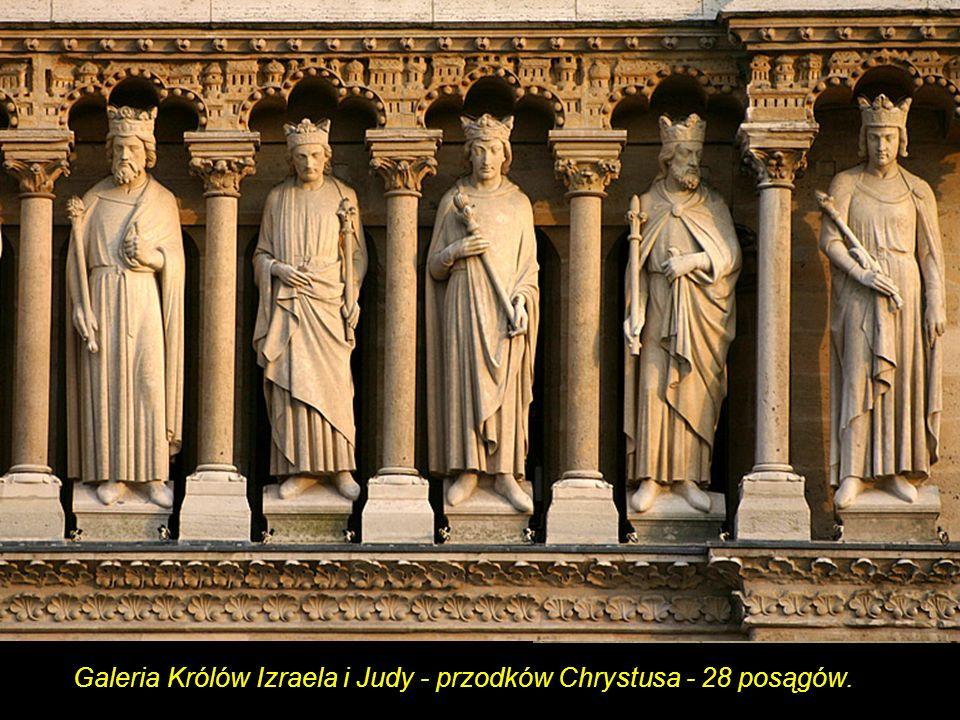 W czasie Rewolucji katedra, podobnie jak i inne kościoły Paryża, poniosła znaczne straty: zniszczeniu uległy niemal wszystkie posągi z wejściowych portali i Galeria Królów. Nieokrzesani sankiuloci, myśląc, że figury przedstawiają dawnych władców Francji, zrzucili je na ziemię lub na miejscu pozbawili głów. Pozostałości oryginalnych szczątków eksponowane są w Muzeum Sztuki Średniowiecznej w Cluny.