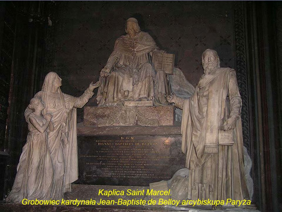 Grobowiec kardynała Jean-Baptiste de Belloy arcybiskupa Paryża