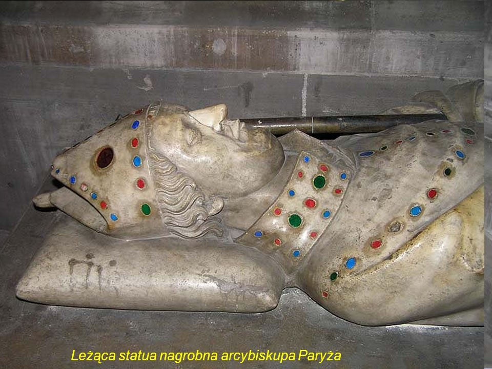 Leżąca statua nagrobna arcybiskupa Paryża