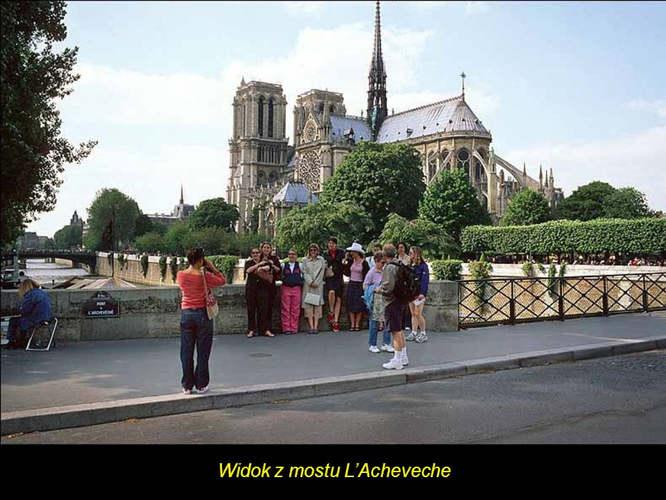 Widok z mostu L'Acheveche