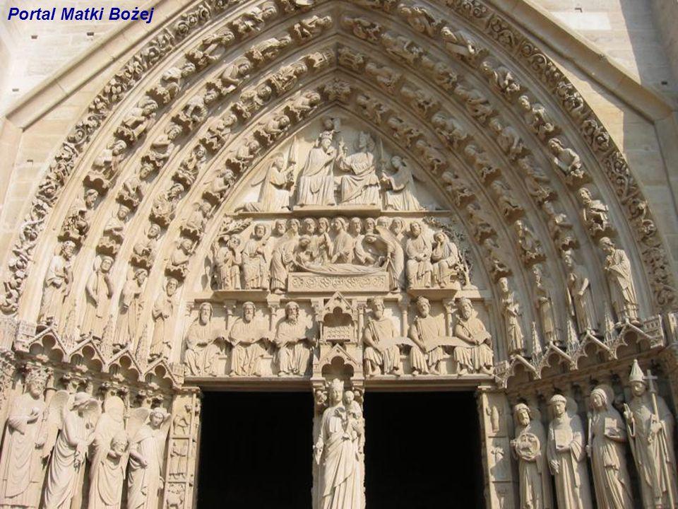 Portal Matki Bożej Portal Matki Bożej Figura na filarze dzielącym odrzwia