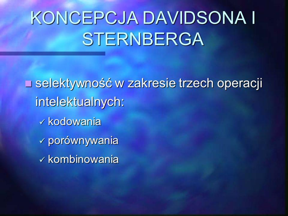 KONCEPCJA DAVIDSONA I STERNBERGA
