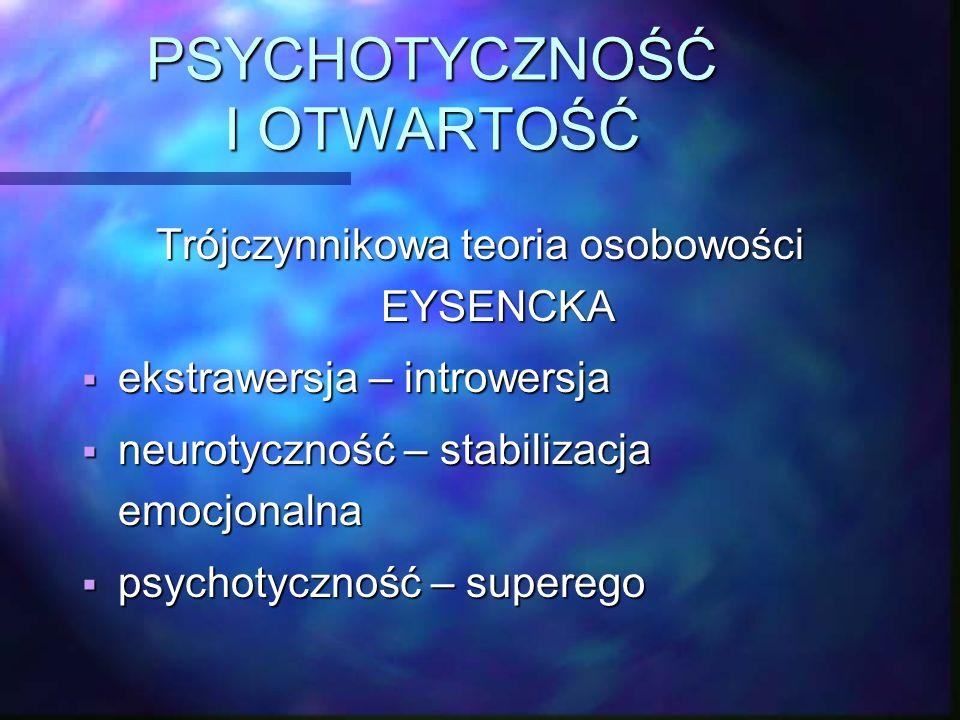 PSYCHOTYCZNOŚĆ I OTWARTOŚĆ