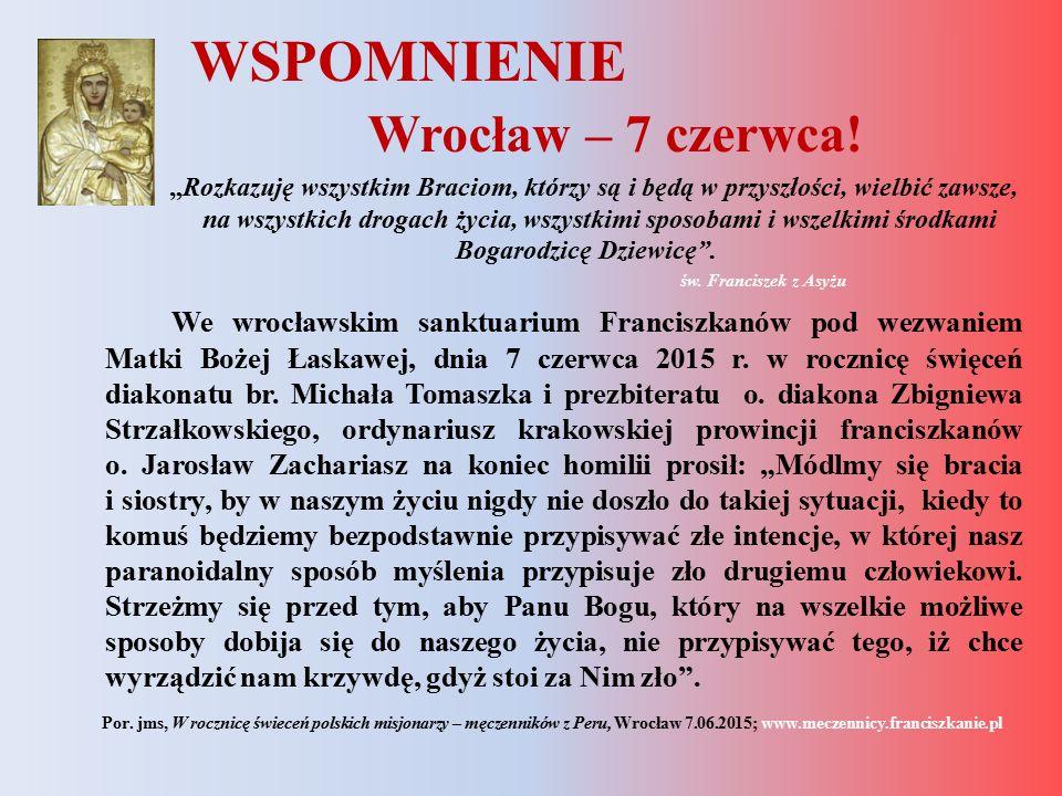 WSPOMNIENIE Wrocław – 7 czerwca!