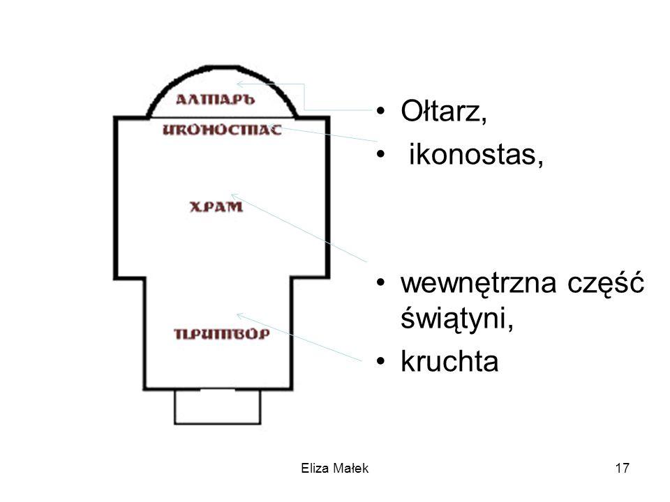wewnętrzna część świątyni, kruchta