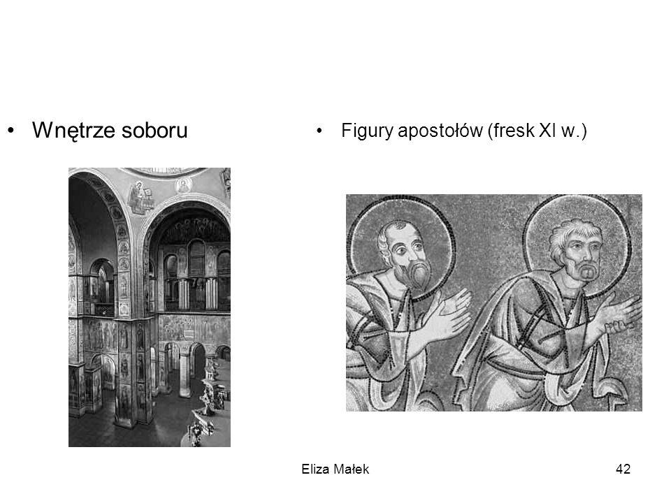 Wnętrze soboru Figury apostołów (fresk XI w.) Eliza Małek