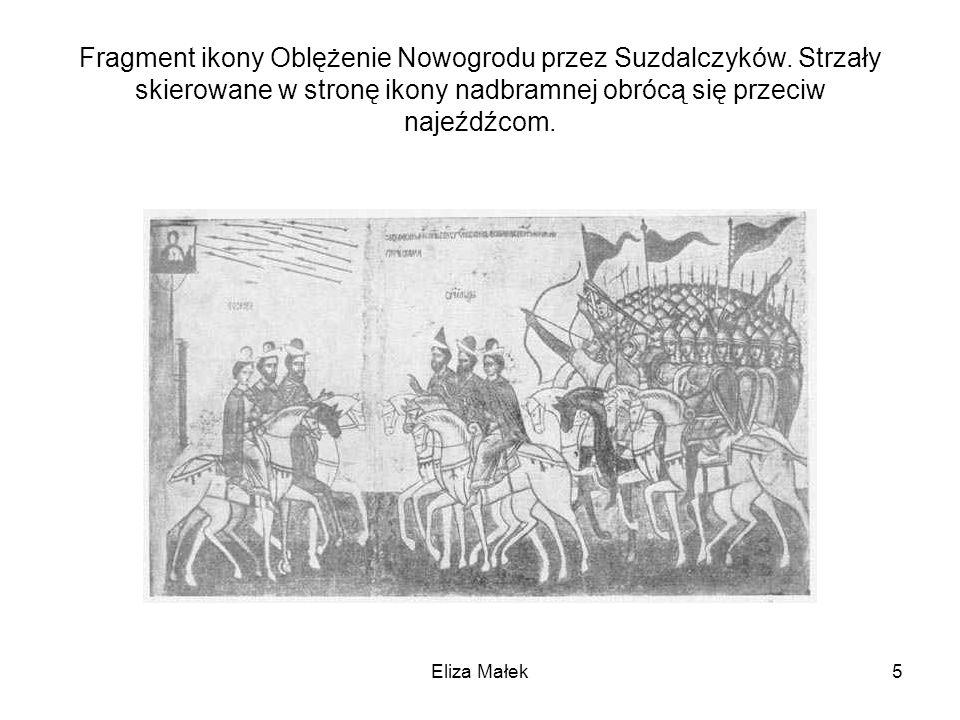 Fragment ikony Oblężenie Nowogrodu przez Suzdalczyków