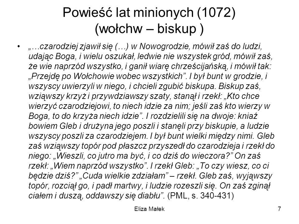 Powieść lat minionych (1072) (wołchw – biskup )