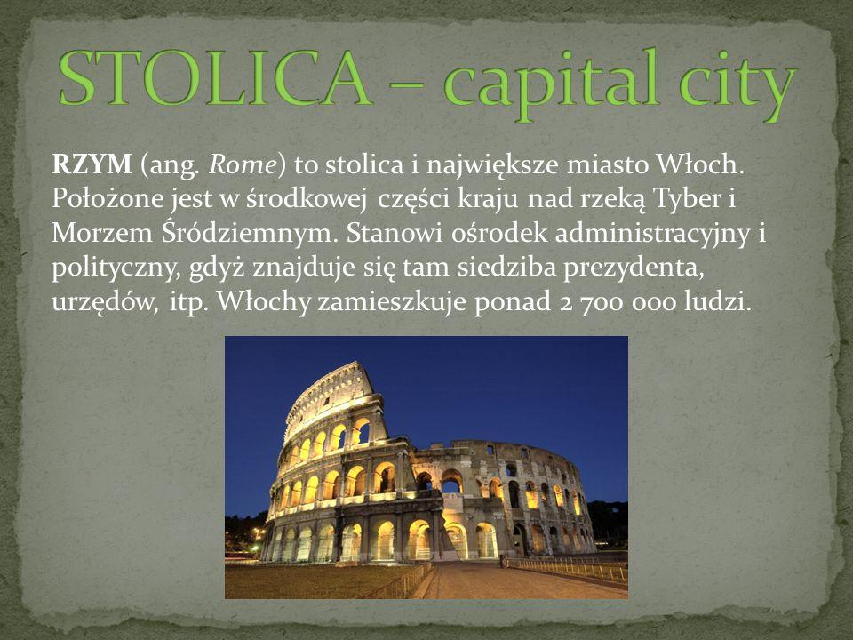 STOLICA – capital city