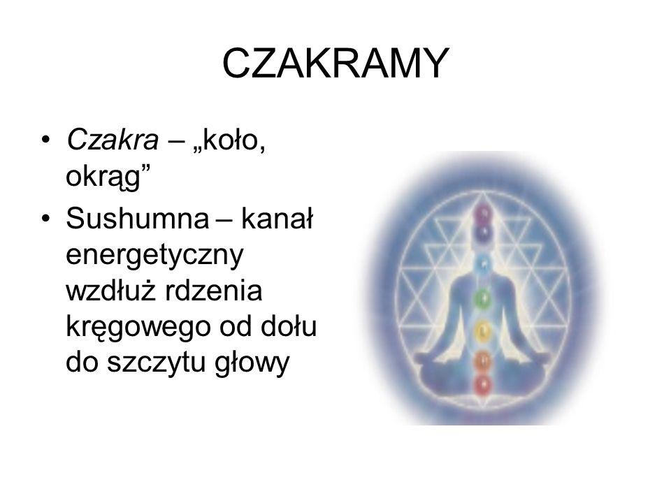 """CZAKRAMY Czakra – """"koło, okrąg"""