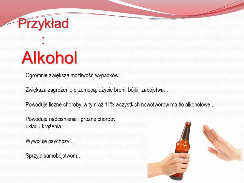 Przykład: Alkohol.