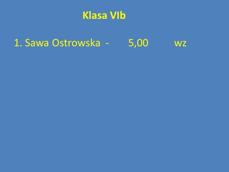 Klasa VIb 1. Sawa Ostrowska - 5,00 wz