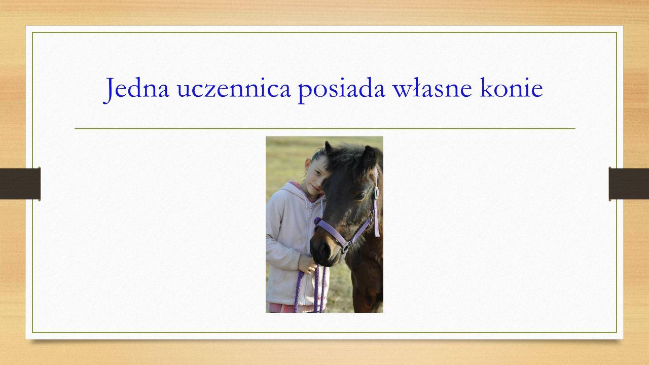 Jedna uczennica posiada własne konie