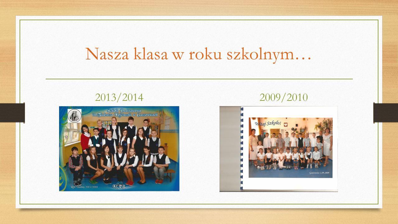 Nasza klasa w roku szkolnym…