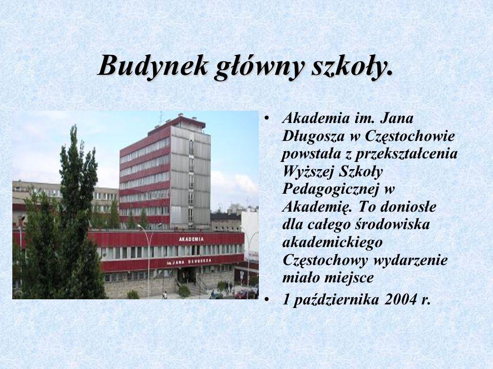 Budynek główny szkoły.