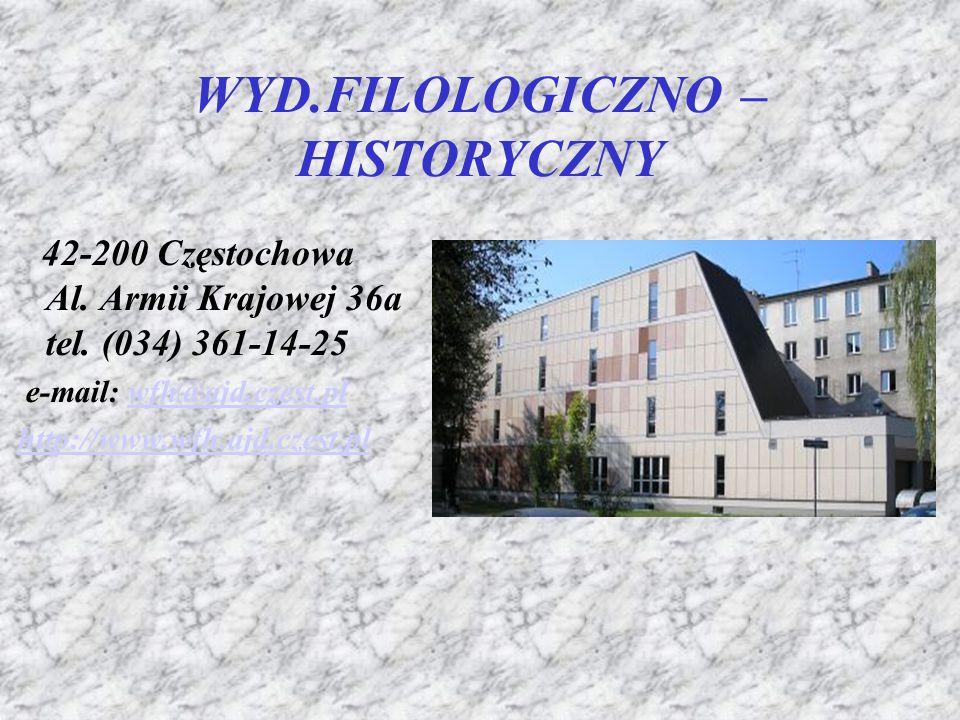 WYD.FILOLOGICZNO – HISTORYCZNY