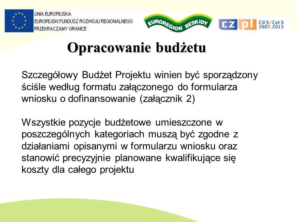 Opracowanie budżetu