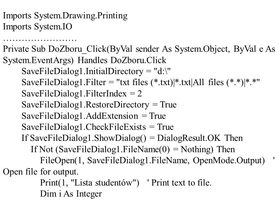 Imports System.Drawing.Printing
