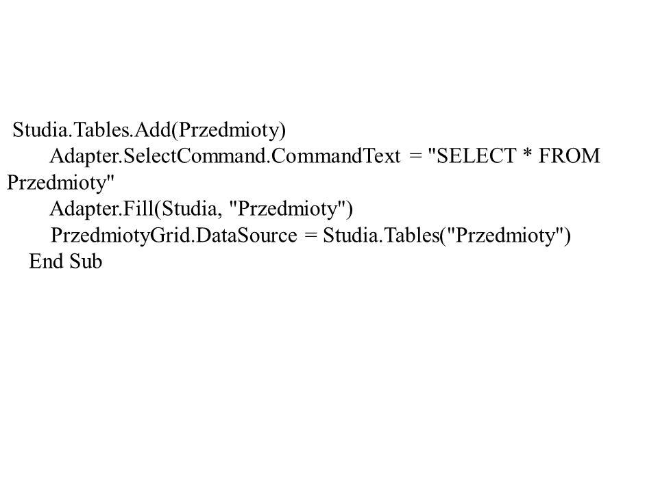 Studia.Tables.Add(Przedmioty)
