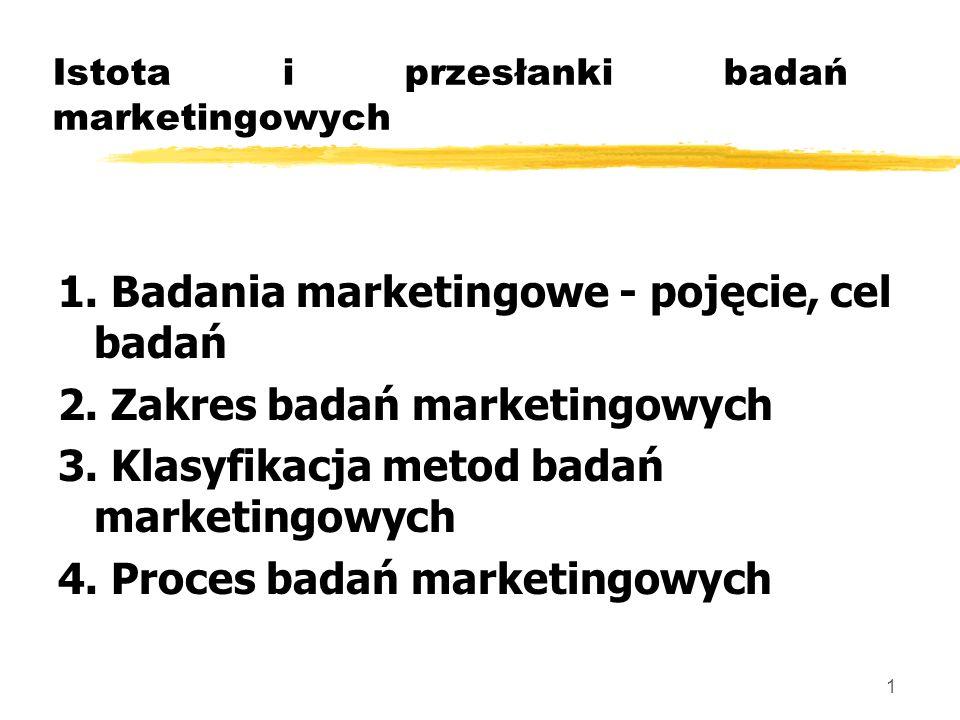 Istota i przesłanki badań marketingowych