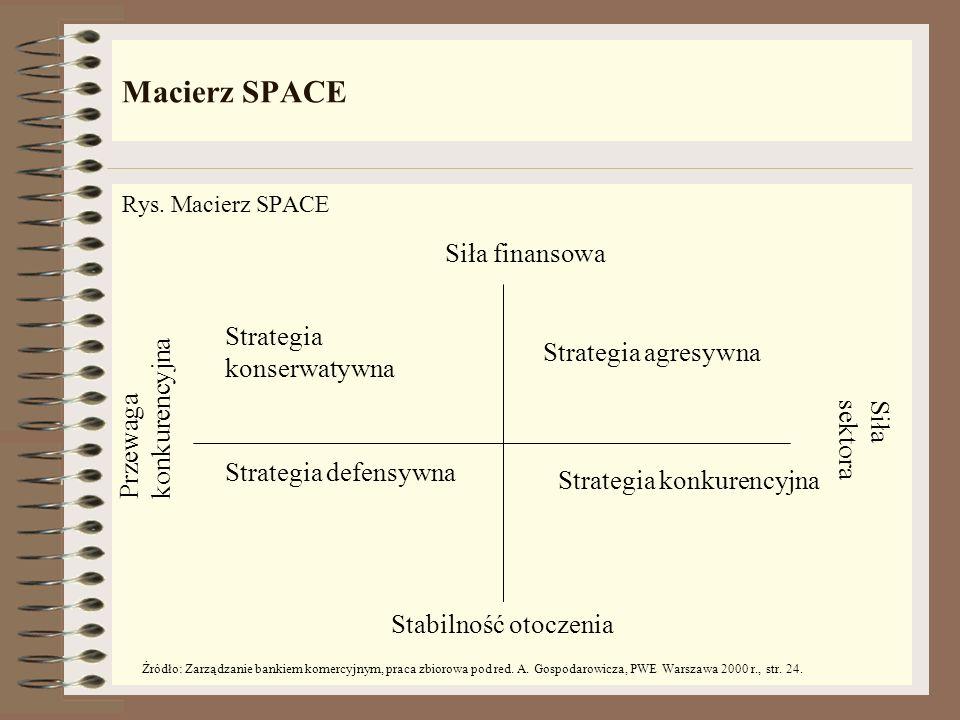 Macierz SPACE Siła finansowa Strategia konserwatywna