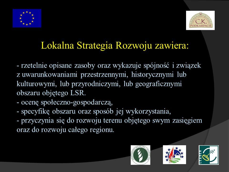 Lokalna Strategia Rozwoju zawiera: