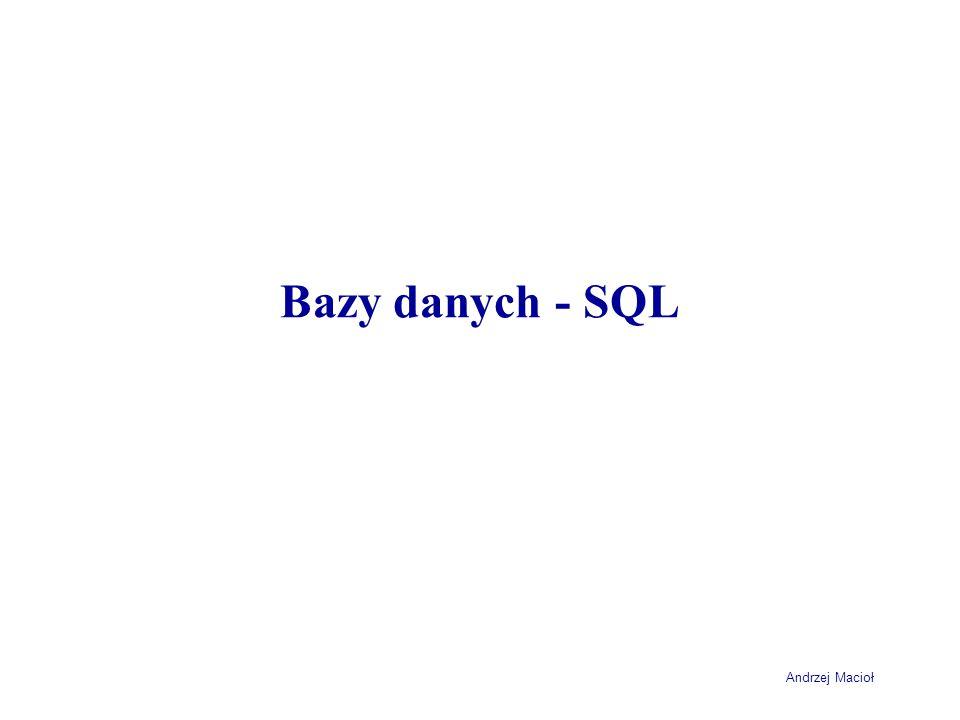 Bazy danych - SQL