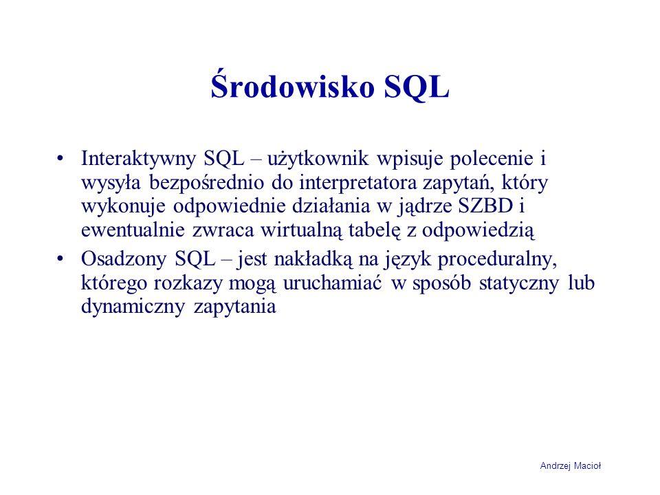 Środowisko SQL