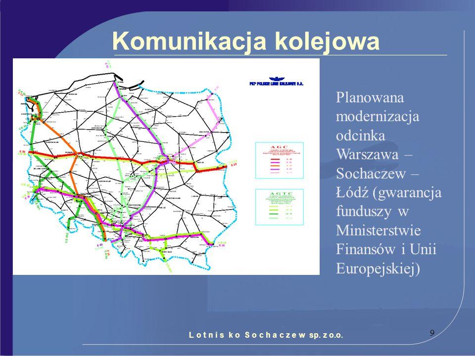 Komunikacja kolejowa Planowana modernizacja odcinka Warszawa – Sochaczew – Łódź (gwarancja funduszy w Ministerstwie Finansów i Unii Europejskiej)