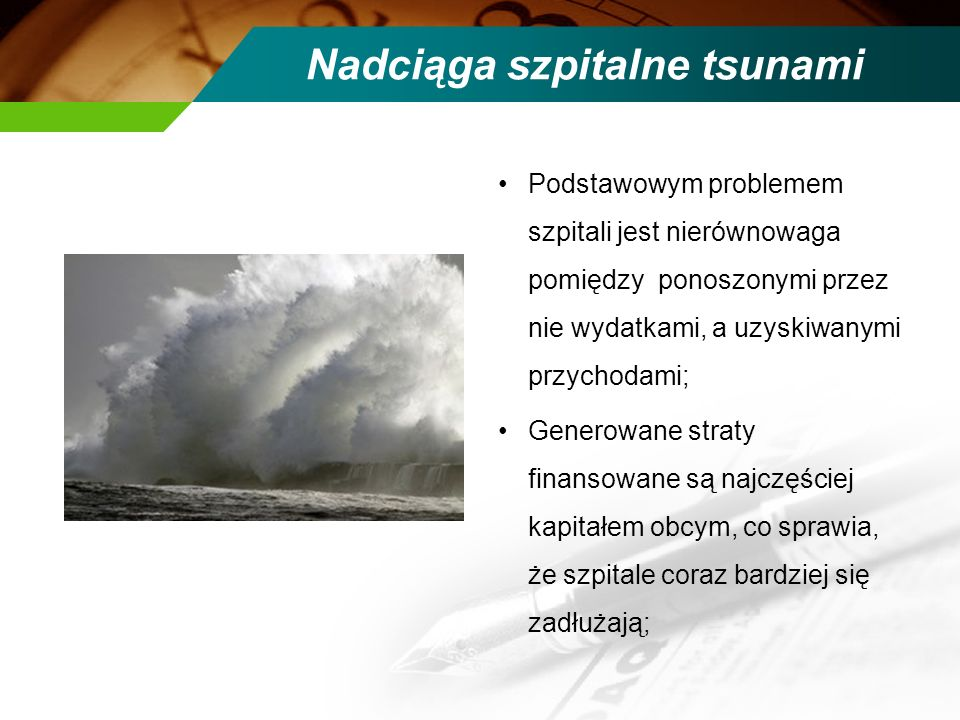 Nadciąga szpitalne tsunami