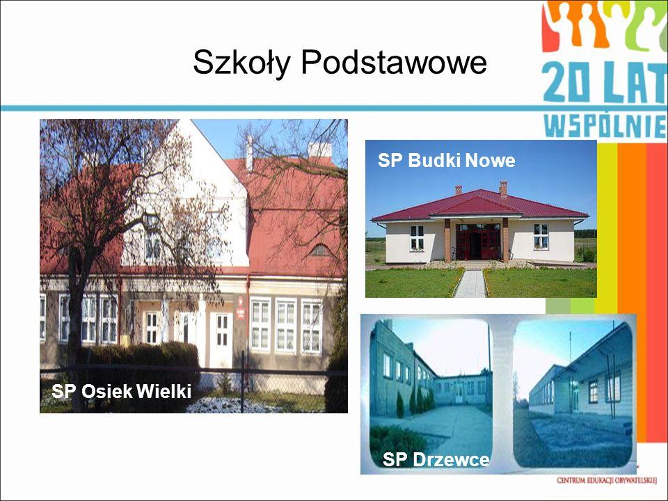 Szkoły Podstawowe SP Budki Nowe SP Osiek Wielki SP Drzewce
