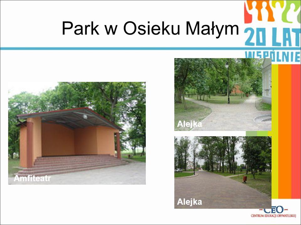 Park w Osieku Małym Alejka Amfiteatr Alejka