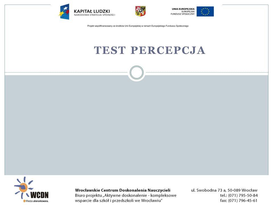 test percepcja