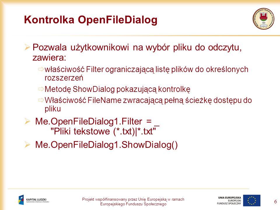 Kontrolka OpenFileDialog