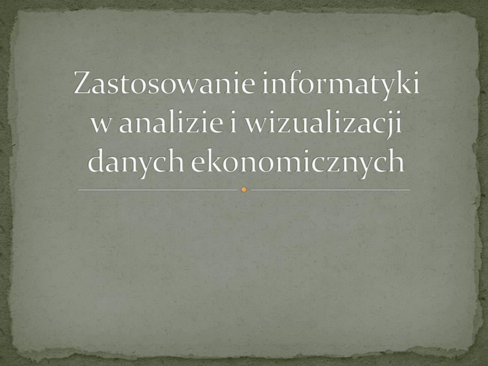 Zastosowanie informatyki w analizie i wizualizacji danych ekonomicznych