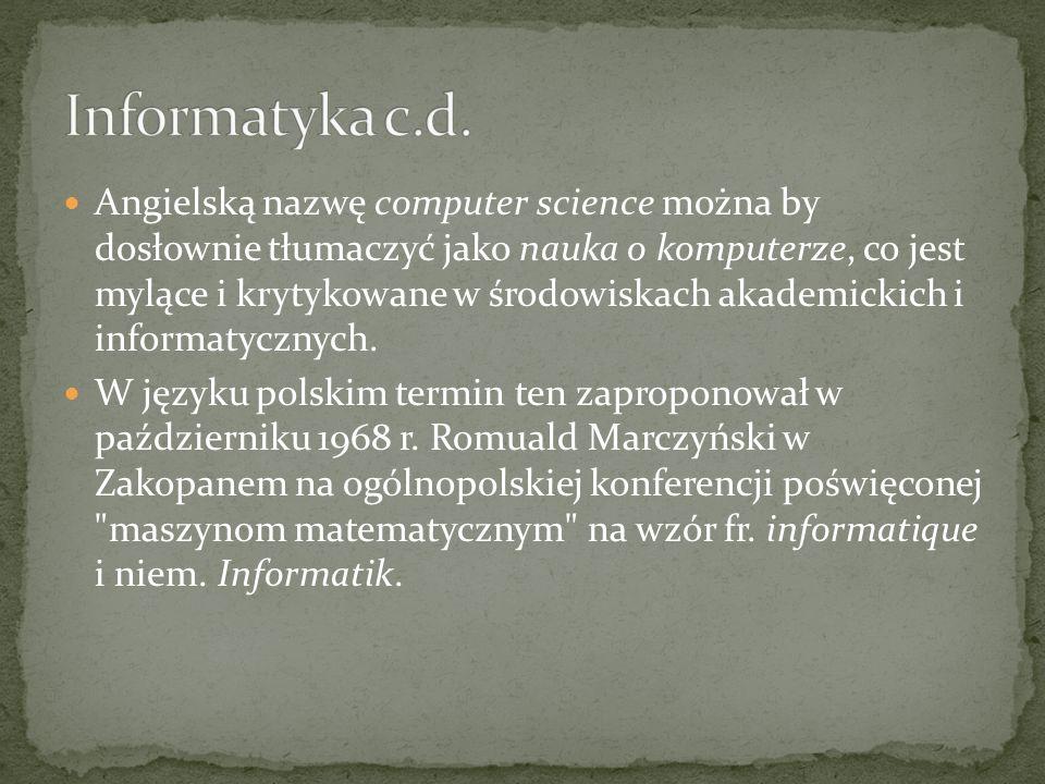 Informatyka c.d.