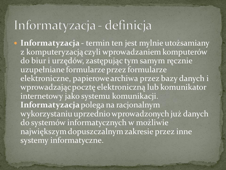 Informatyzacja - definicja