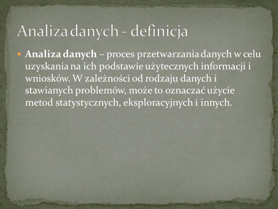 Analiza danych - definicja