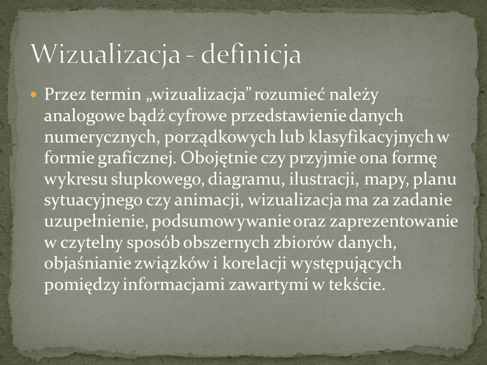 Wizualizacja - definicja
