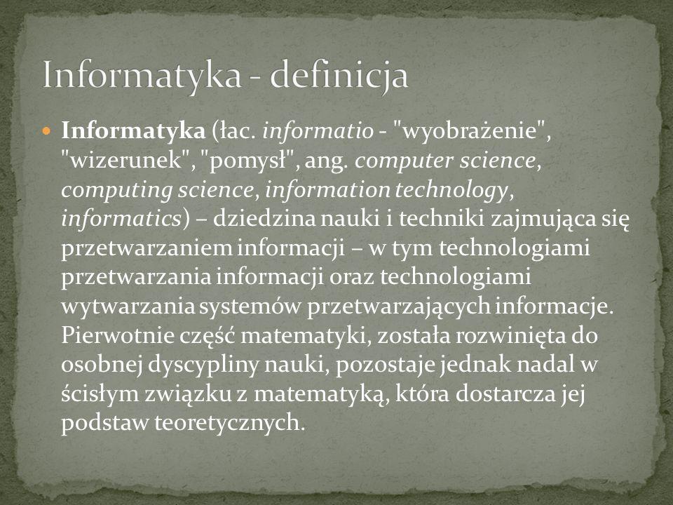 Informatyka - definicja