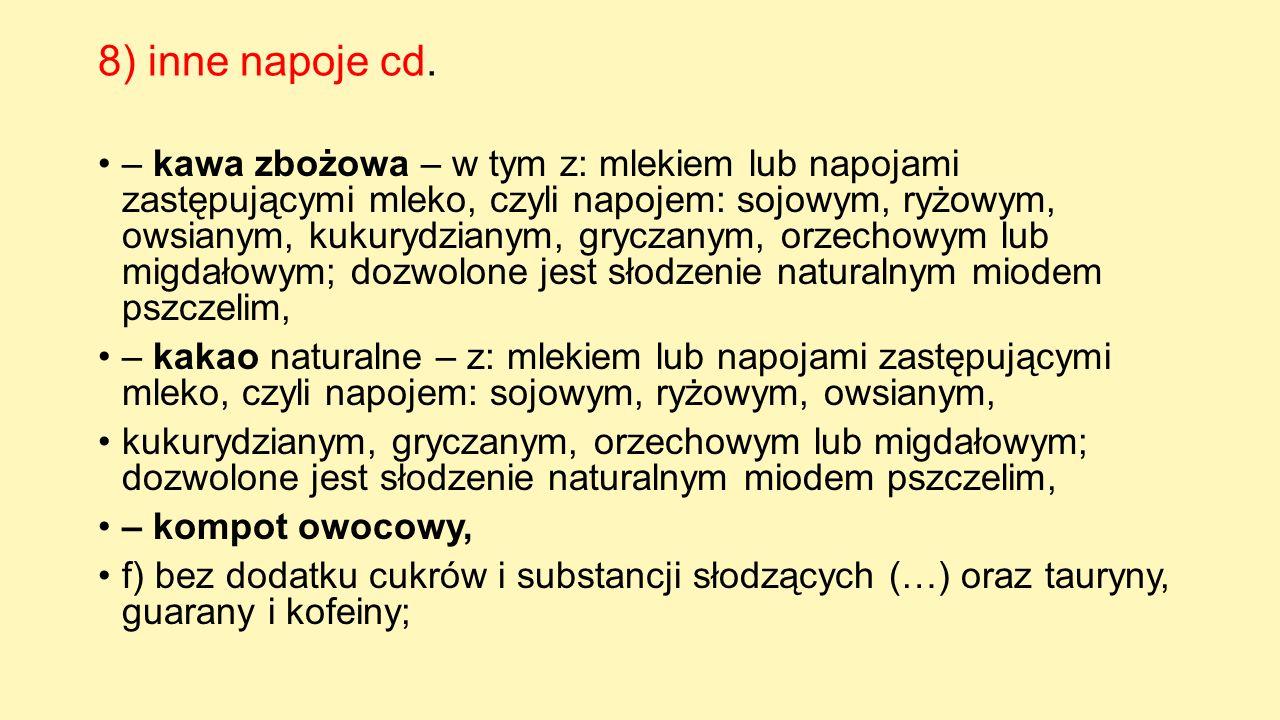 8) inne napoje cd.