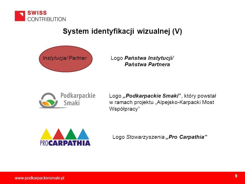 System identyfikacji wizualnej (V)