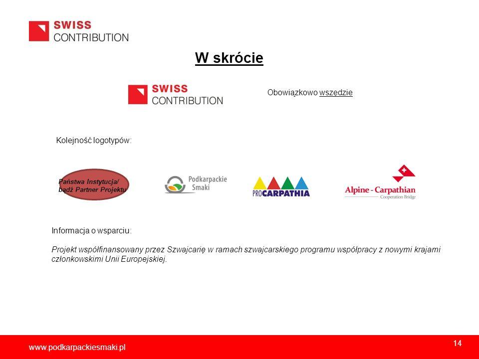 W skrócie 2012-12-05 Obowiązkowo wszędzie Kolejność logotypów: