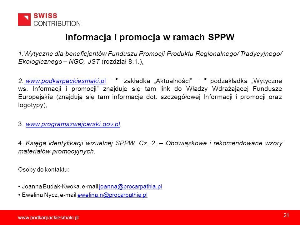 Informacja i promocja w ramach SPPW