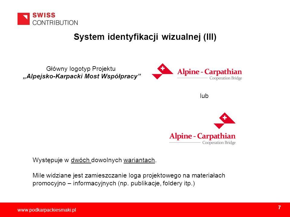 System identyfikacji wizualnej (III)