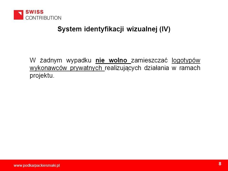 System identyfikacji wizualnej (IV)