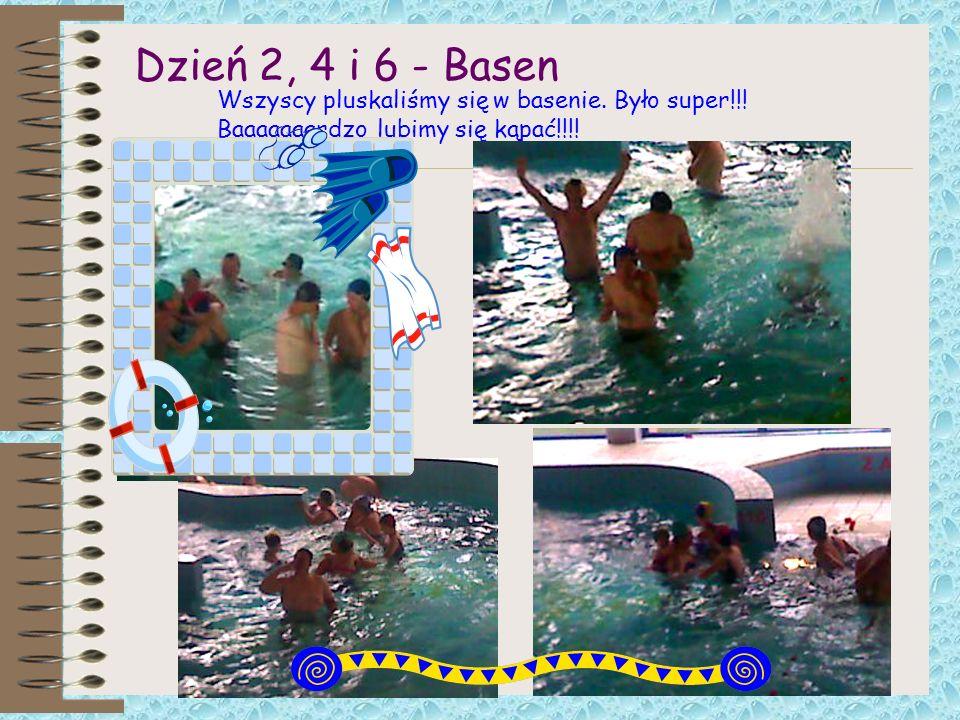 Dzień 2, 4 i 6 - Basen Wszyscy pluskaliśmy się w basenie.
