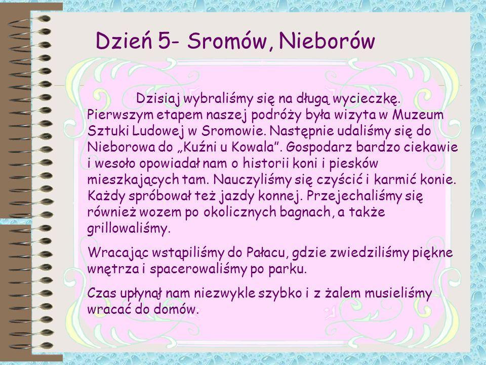 Dzień 5- Sromów, Nieborów