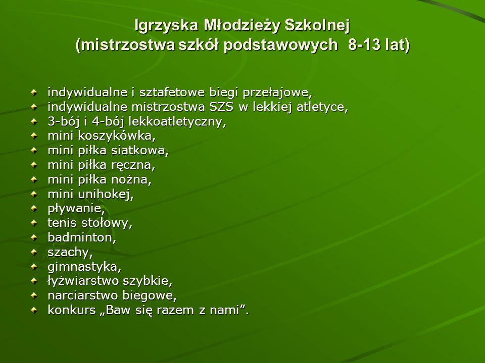 Igrzyska Młodzieży Szkolnej (mistrzostwa szkół podstawowych 8-13 lat)